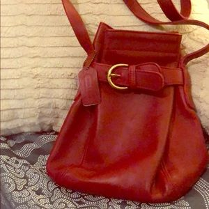 Red Coach crossbody